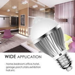 Wholesale 5w Infrared - PIR Light Bulb Lamp Auto Switch Stairs Night Light E27 5W Bulb LED Infrared Motion Detection Sensor