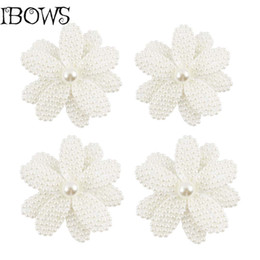 1Pc Beauty White Pearl Bow Accessori per capelli con clip Flower Hair Bow Girls Alligator Clip di capelli per Girl Kid da