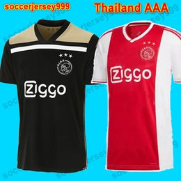 Mejores uniformes online-Camisetas de fútbol de Ajax 18 19 Camisa NOURI ZIYECH HUNTELAAR Camisetas de fútbol camisetas de futbol maillot de foot 2018 2019 uniforme El mejor de Tailandia