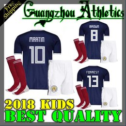 Wholesale quality children - Best Quality 2018 Scotland kids kit Soccer Jersey home blue 18 19 GRIFFITHS LUSTIG SINCLAIR BITTON BROWN children Home Football kits