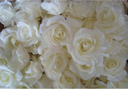 white silk roses flower heads Coupons - NEW BEST SELLER FLOWER HEADS 100p Artificial Silk Camellia Rose Fake Peony Flower Head 7--8cm for Wedding Party Home Decorative Flowewrs