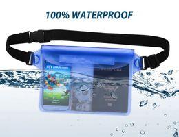 meilleurs sacs de voyage Promotion Meilleure qualité populaire sac de voyage unisexe 100% imperméable à l'eau sac de taille sac pochette Beach Pouch avec ceinture réglable et très longue