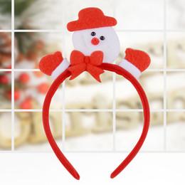 High quality christmas decoration en Ligne-Bande de cheveux de noël décoration présente mode bricolage père Noël bois chapeaux enfants cheveux pneu haute qualité de Noël vente chaude
