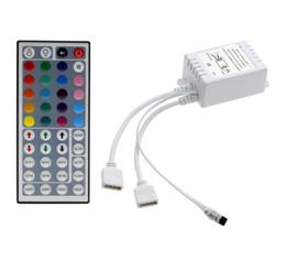 Canada 44 touches infrarouges à distance LED RGB contrôleur DC 12V-24V 12A 2 ports RGB à télécommande pour 5050 5630 5730 Led bandes supplier ir port Offre