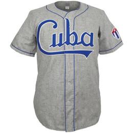 Pullover di cubo online-Maglie del ricamo della Jersey 100% del ricamo cucito annata delle maglie della Jersey di Cuba 1947 abitudine qualsiasi nome qualsiasi numero Trasporto libero