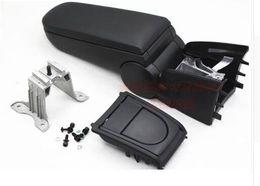 Deutschland Für Volkswagen VW Polo Armlehnen Kasten mit Becherhalter Leder oder Stoff Aufbewahrungskoffer Konsole schwarz Farbe neuen Design 2011 - 2016 Versorgung