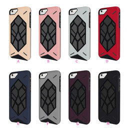 Wholesale Ironman Armor - Carbon Fiber Ironman Rugged Case For Iphone X 8 7 6 6S Plus 8+ 7+ 6+ Robot ShockProof Hybrid Armor Hard PC Plastic+Soft TPU Back Phone Cover