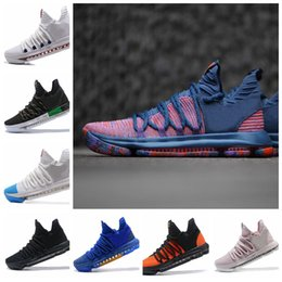 huge discount 7c383 1075a 2018 Zoom KD 10 X Multi-Color Oreo Numbers BHM Aunt Pearl All-Star Dark  Stucco Men Basketball Shoes Elite Mid Kevin Durant Sport Sneakers