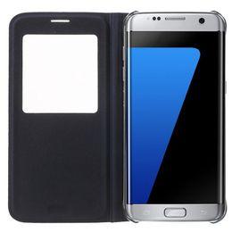 Iphone view flip онлайн-Для S9 S8 Plus кожаный флип чехол для мобильного телефона для Samsung Galaxy S7 вид из окна противоударный чехол для Iphone 7 Galaxy S7 EDGE Примечание 5 Новый