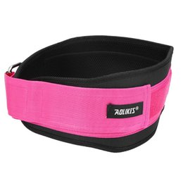 Wholesale Lifting Bag - Women Nylon Waist Bag EVA Weight Lifting Squat Belt Lower Back Support Gym Bodybuilding Squats Training Fitness Protector Belt