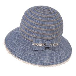 Sombrero femenino Sombrero de verano para mujer 2018 Nuevo Sombrero de  playa Dama Sombreros para el sol Arco de encaje Tapas grandes Paño plegable  Tapa de ... e3dd9f76666