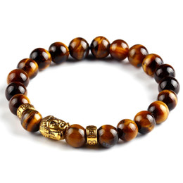 Желчные камни онлайн-Buddha Buddhist Bracelets for Men Tiger Eye Beaded 8mm Lava Stone  Gallstone Religious Mens Jewelry Gift