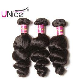 Wholesale Human Hair Indian Weave Price - UNice Hair Wholesale Virgin Brazilian 3 Bundles Loose Wave Human Hair Extensions Peruvian Indian Malaysian Hair Weaves Nice Curl Bulk Price