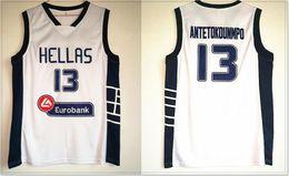 Wholesale mens vests for sale - New Mens #13 Giannis Antetokounmpo College Vintage Basketball Team Jerseys Pro Sports Vest Uniforms Stitched Embroidery Sz S-XXXL For Sale