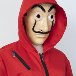 Mens Halloween Costume La Casa De Papel Roupas Cosplay Engraçado Tamanho Livre Máscaras Um Conjunto Frete Grátis de