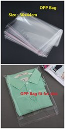 large packaging plastic bags Promo Codes - Wholesale 100pcs Transparent Clear Large Plastic Bag 30x44cm Self Adhesive Seal Plastic Poly Bag Toys Clothing Packaging OPP
