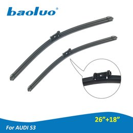 """Wholesale Soft Natural Rubber - Car Front Windshield Wiper Blade for Audi S3 26""""+18"""" Soft Natural Rubber Bracketless Arm Window Wipers"""