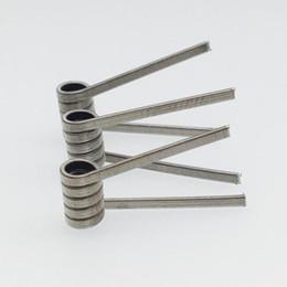 2019 alambre calibre 26 calibre LK NI80 Clapton Premade Coil 26g * 2 + 38g 26g * 3 + 38g 26g * 4 + 38g Nichrome 80 hilos Pre-buid Coil 0.18ohm 0.22ohm 0.3ohm para Vape RDA atomizador Ecigs