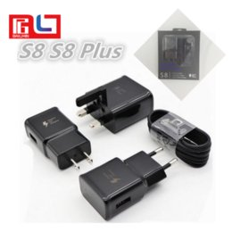 Wholesale 9v Adapter - Fast Charger + 1.2M Type-C Cable Travel Wall Charger Adapter 9V 1.67A For S8 S8 plus With the Logo Support Mix Orders