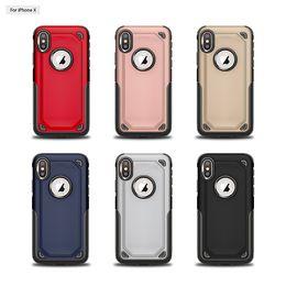 Sumsung 5s online-Hybrid 2 in 1 Custodia Guscio opaco glassato Armor Slim Defender Back Cover per iPhone X 8 7 6 6S Plus 5 5S SE Sumsung S8 S9 Plus Nota8