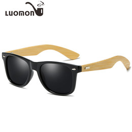 9793853ba6 LUOMON Wood Polarized Sunglasses Punk for Men Women Bamboo Frames Retro  Eyewear Driving Anti-UV Eyeglasses Luxury Brand