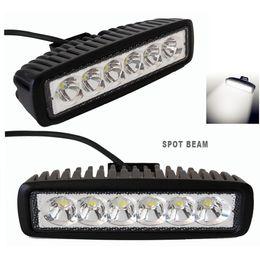 12v led luces de tractor online-6INCH 18W MINI barra de luz LED para camiones de campo traviesa Luz de trabajo de trabajo Spot Spot Flood DRL SUV ATV 4X4 luz de conducción 12V 24V