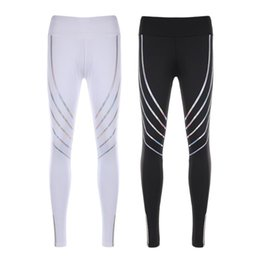 FRECICI 2018 Femmes Pantalon De Course Réfléchissant Gym Fitness Yoga Leggings Veilleuse Pantalon Collants Fitness Yoga Leggings À Séchage Rapide ? partir de fabricateur
