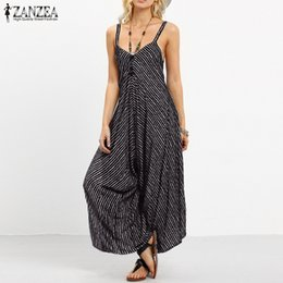 b873be5b61bb ZANZEA Summer Rompers Womens Jumpsuit 2018 Fashion Striped Long Playsuit  Casual Loose Sexy Backless Overalls Plus Size Hot SaleY1882902