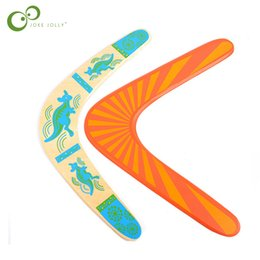 Wholesale Inflatable Trampolines For Kids - V Shaped Boomerang Dart Frisbee Kids Toy Flying Saucer Throw Catch Outdoor Game For Children adult WYQ