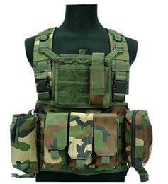 Wholesale Tactical Neck Armor - Tactical Vest Game Wear MOLLE Body Armor Hunting Vest CS Outdoor Products Equipment