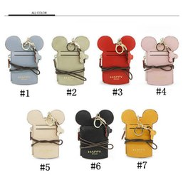 Wholesale name card wallet - Ear Wallet Card Holder Happy Dream Neck Lanyard Purse Name Credit Card Holders Coin Purse OOA4820
