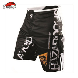 Wholesale Muay Thai Boxing Shorts - Suotf 2015 Spring Listed Mma Loose Boxing Muay Thai Shorts Comfortable Sweat Quick -Drying Fight Training Global Free Shipping