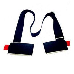 Wholesale mountaineering poles - Adjustable Ski easy backpack cross country Ski Pole Shoulder Hand Carrier Lash Handle Dual Board Strap bag Outdoor gadgets