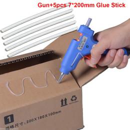 Wholesale Melt Glue Sticks - AODON High Temp Heater Melt Hot Glue Gun 20W Repair Tool Heat Gun Blue Mini Gun US EU Plug Hot Melt Glue Sticks 100-240V