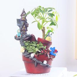 Wholesale Desk Bonsai - Creative Micro Landscape Garden Pot New Novelty Bonsai Plant Flower Pot Succulent Plants Pot Desk Decorations Planter Pots