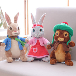 Wholesale Peters Rabbit - Plush Peter Rabbit Toy 30cm Stuffed Peter Rabbit Soft Cartoon Toy 30cm Dressed Anime Bunny Rabbit Doll Collect Peter Kids Gift
