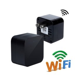 Adaptador de cargador de pared mini online-32GB Mini Wifi USB Adapter Camera HD 1080P Wall Charger Cámara Inalámbrica Home Vigilancia y Seguridad Cámara Nanny Cam Mini DVs