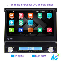 Wholesale Chinese Car Stereo Systems - Quad Core 2G RAM 1 Din Android 6.0 Car DVD Player Radio Stereo Universal with GPS Navi Bluetooth Multimedia System 4G