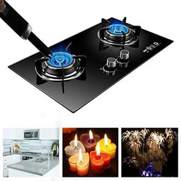 Wholesale Electric Firework - Metal case Long USB Electric arc kitchen windproof lighters,rechargeable pulse lighter Candles and Fireworks