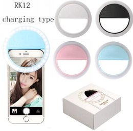 Wholesale Phone Light Charm - Charming Eyes LED Selfie Ring Light Up Flash Photography Bright Lamp for iPhone X Samsung Phone