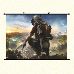 Wholesale popular poster - Popular Game Poster Playerunknowns Battlegrounds Characters Car Tools Game Poster PUBG Home Decoration University Gift Birthday