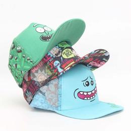 Cartoon Rick and Morty Mr. Meeseeks Whimsy Hats Adjustable Casquette  Baseball Cap Bone Hip Hop Snapback Caps Hats 6f636c261008