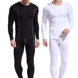d598b25c435afa 2019 männer unterwäsche muster Mode Männer Streifen Muster Langarm Thermo- Unterwäsche Slim Fit Top Hosen