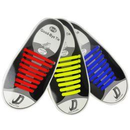 Livraison gratuite en gros nouveau 2018 16pcs Lazy Elastic Silo Lacets No Tie Running Sneakers Cordes Lacets ARI-920 ? partir de fabricateur