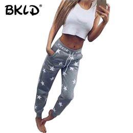 Wholesale girls star leggings - BKLD 2017 Women Streetwear Leggings Fashion hot-selling Star casual Trousers Girls Pants Letter QUEEN Print Women Winter Pants