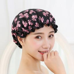 оптовые персы для волос Скидка Водонепроницаемый шапочки женщин купальные шапочки красочные ванна душ волос обложка для взрослых Бесплатная доставка