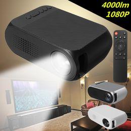 2019 billige mini lcd projektoren YG320 Mini-Projektor LED-Projektor Proyector Portatil 500LM Audio HDMI USB Mini YG-320 Projektor Heimkino Media Player Beamer