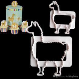 camelos plásticos Desconto 2PICS Padrão de Camelo De Plástico Fandant Molde Patisserie Gateau Bolo de Pastelaria Ferramentas de Cozimento Cupcake Toppers Moldes de Cozimento