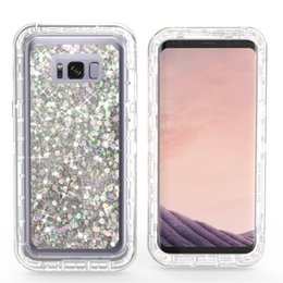 Wholesale Start Phone - Quicksand Robot Phone Cover Crystal Dynamic Bling Start Hybrid Defender For Samsung Galaxy 8 S8 Plus Liquid Transparent Case Defender Cover