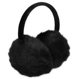 2019 schwarzes fauxpelzstirnband Lady Woman Stirnband schwarz Kunstpelz Winter Ohrenschutz Ohrenschützer günstig schwarzes fauxpelzstirnband